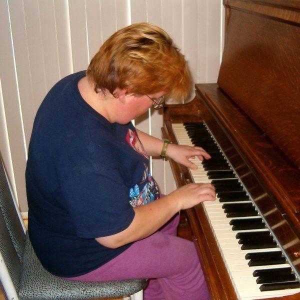 Donna at piano